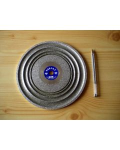 "Cabochon diamond polishing disc 8"", grain 0100"