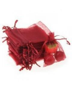 """Jewellery bags """"Organza"""" red 1 piece"""