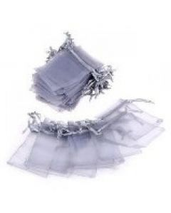 """Jewellery bags """"Organza"""" grey 100 pieces"""