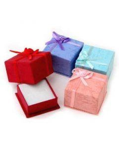 Jewellery box, pink 4x4 cm, 10 pieces