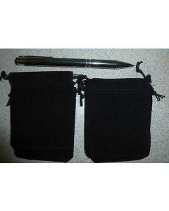 Jewellery bags velvet black 100 piece