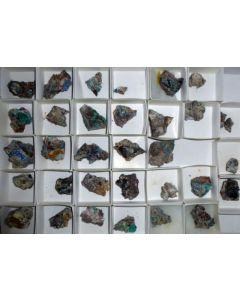 Native Silver etc, Lavaderos mine, Mexico 1 microbag (micro bag)