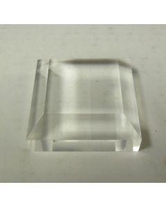 """Acrylic bases, fully polished, 2 x 2 x 3/4"""", 1/2"""" bevel, pack of 20 pcs. (BV2x20)"""