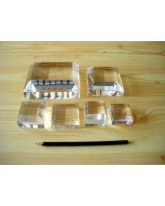 """Acrylic bases, fully polished, 4 X 4 X 1"""", 1/4"""" bevel, pack of 5 pcs. (BV4wx5)"""