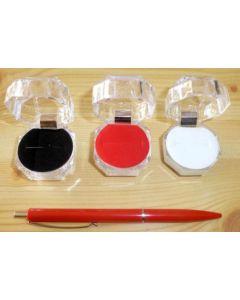 Jewellery box, acrylic with velvet inlay (white) 4x4 cm, 1 piece