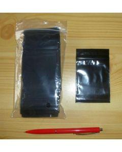 zip lock bags, black, 040 x 060 mm
