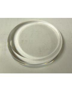 """Acrylic bases, round beveled base, fully polished, 1/4"""" bevel, 5"""" dia x 1"""" thick, pack of 5 pcs. (BR51x5)"""