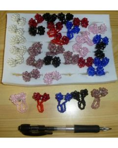 Childrens rings made of colourful acylic (10 pieces)