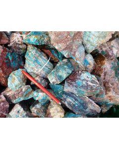 Chrysocolla with Barite, Rowley Mine, AZ, USA. 1 kg