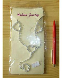 """necklace """"hearts"""" w/ zirconia"""