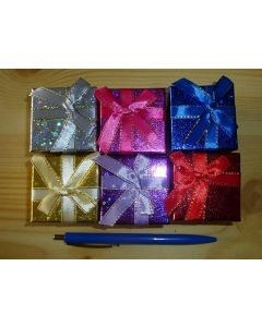 Jewellery box, mixed colours as shown, 5x5 cm, 6 pieces
