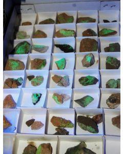 Minerals from the USA (AZ, UT, NV), 10 flats