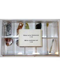 Mohs hardness set in a display box, 1-10