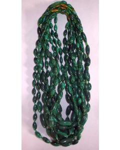 Malachite (oval beads) necklace (hand made in the Congo) 1 piece