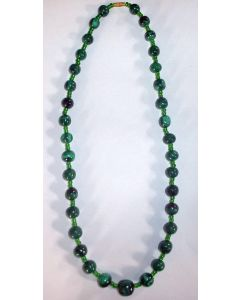 Malachite (large, round beads) necklace (hand made in the Congo) 1 piece