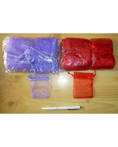 "Jewellery bags ""Organza"" purple 1 piece"