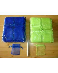 "Jewellery bags ""Organza"" blue 100 piece"