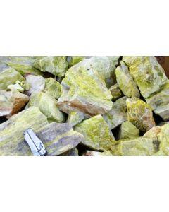 "Serpentinite (""Jade""), green-banded, India, 100 kg"