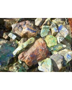 Epidote, Malachite, Morenci, AZ, USA, 1 kg