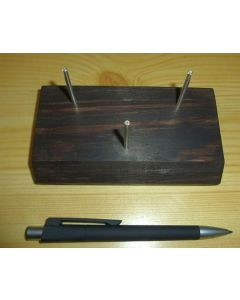 Wooden stand with bending display made of real silver! Large (3 prong)