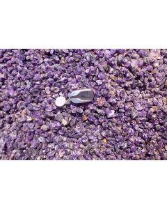Amethyst (cutting grade, gemmy), rough, Zambia 1 kg