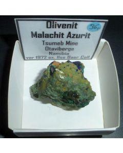 Olivenite xx; Tsumeb Mine, Otavi Bergland, Namibia; KS