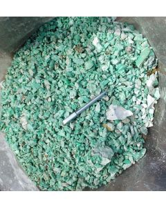Chrysoprase, small pieces/chips, Szklary, Niederschlesien, Poland, 100 kg