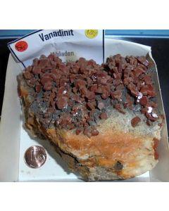 Vanadinite xx; Mibladen, Midelt, Morocco; HS