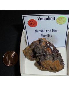 Vanadinite xx; Namib Lead Mine, Swakopmund, Namibia; KS