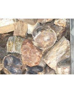 Petrified wood, one side saw cut, Madagascar, 1000 kg