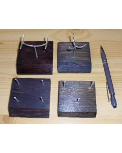 Wooden stand with bending display made of real silver! (3 prong)