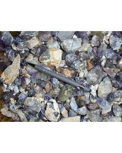 Amethyst, etc. crystals, Brandberg, Namibia, 1 kg