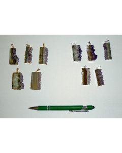 Amethyst-slice, electroplated, (golden)