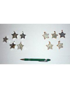Druzy Quartz geode, electroplated (silver), pendant, star