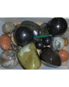 Mixed ornamental stones, polished, Madagascar, 1 kg
