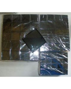 Gemstone box, 4x4x2 cm, black, 20 pieces
