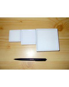 Gemstone box, 9x9x3 cm, white, 6 pieces