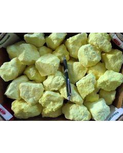 Sulfur, nat., Indonesia, 10 kg