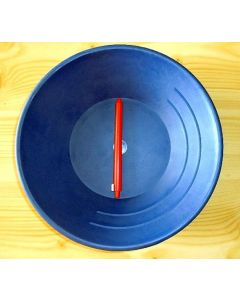 "Gold Pan 10"" hard-plastic, blue, heavy"