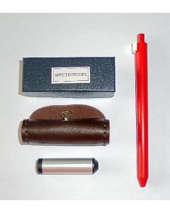 Pocket diffraction grating spectroscope