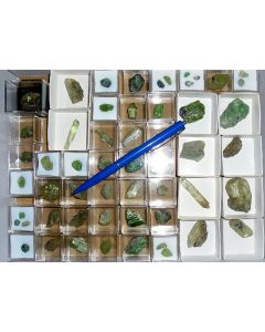 Diopside (xx)/(X) Tanzania, 55 pieces