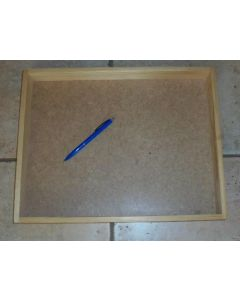 Wooden tray, wooden flat, made of real wood, 40 x 31 x 4 cm, 1 piece