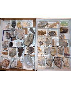 Calcite collection, old specimen, 40 pcs.