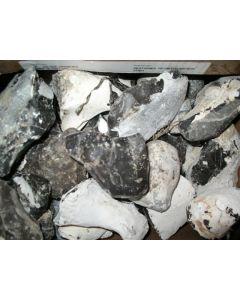 Flintstone (Firestone, black), Heiligendamm, Bad Doberan, Baltic Sea, Germany, 100 kg