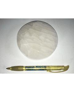 Selenite, white, Chakra disc, 10 cm, round, 10 pieces