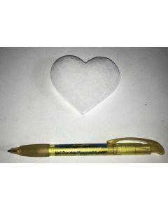 Selenite, white, Chakra disc, 7 cm, heart shape, 10 pieces