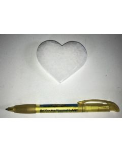 Selenite, white, Chakra disc, 7 cm, heart shape, 1 piece