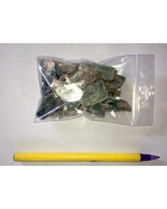Cyanite crystals, blue-green, Tanzania, 100 g