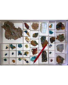Mixed minerals of high quality, Laurion, Greece, 1 flat (#2)