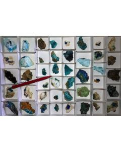 Mixed minerals of high quality, Laurion, Greece, 1 flat (#3)